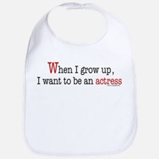 ... an actress Bib