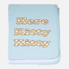 Here Kitty Kitty baby blanket