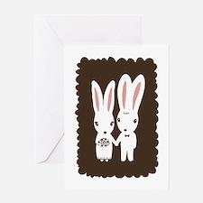 Bunnies Wedding Congrats Card
