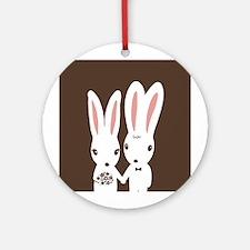 Bunnies Wedding Ornament (Round)