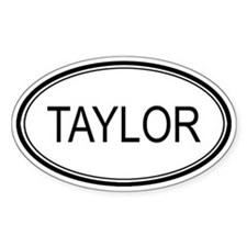 Taylor Oval Design Oval Decal
