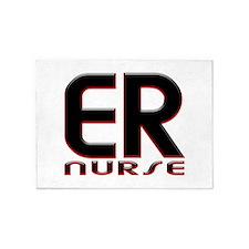 EMERGENCY NURSE 2 RED 5'x7'Area Rug