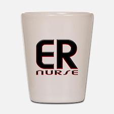 EMERGENCY NURSE 2 RED Shot Glass