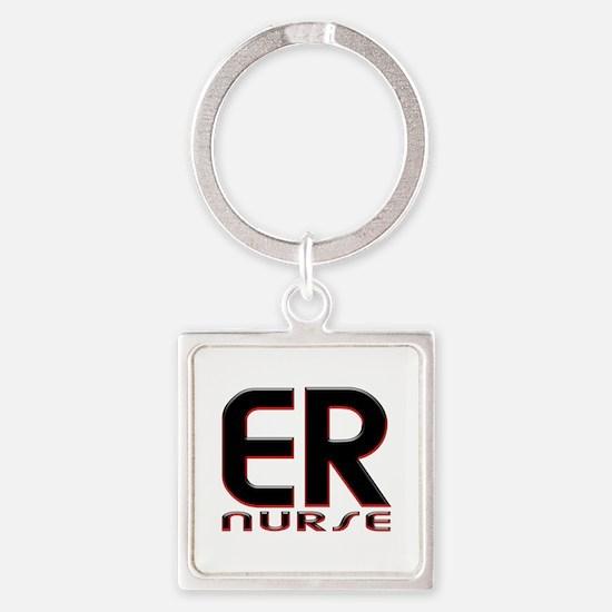 EMERGENCY NURSE 2 RED Keychains
