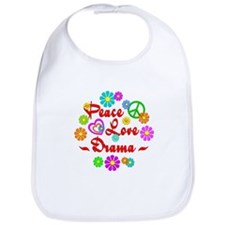 Peace Love Drama Bib