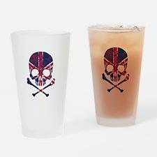 Union Jack Skull Drinking Glass