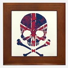 Union Jack Skull Framed Tile