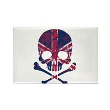 Union Jack Skull Rectangle Magnet