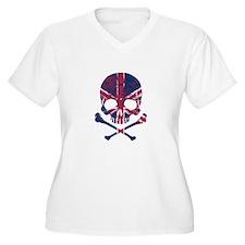 Union Jack Skull Plus Size T-Shirt