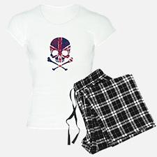 Union Jack Skull Pajamas