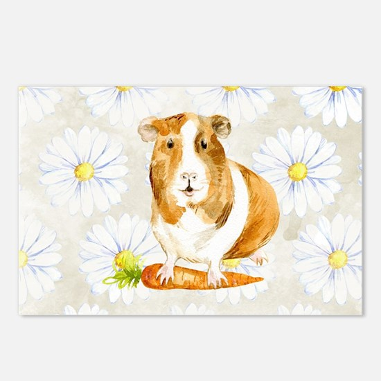 Watercolor Guinea Pig Postcards (Package of 8)