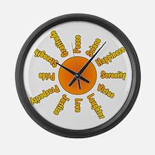 Positivity Sun Large Wall Clock