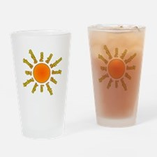 Positivity Sun Drinking Glass