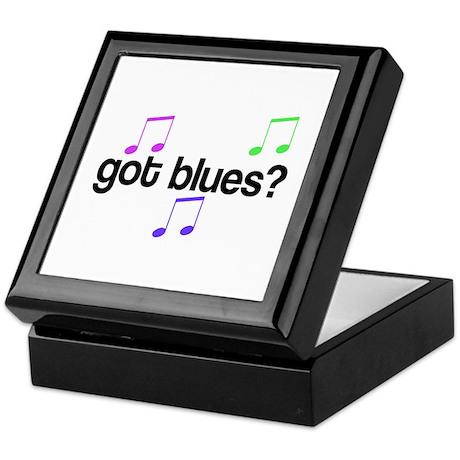 Got Blues Keepsake Box