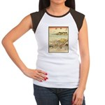 Japanese illustration Women's Cap Sleeve T-Shirt