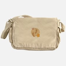 FOOTPRINTS, SAND, SEASHELLS Messenger Bag