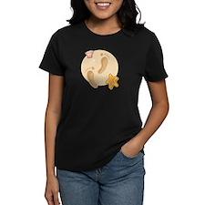 FOOTPRINTS, SAND, SEASHELLS T-Shirt