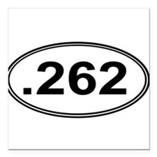 ".262 Miles Square Car Magnet 3"" x 3"""