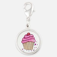 Pink Cupcake Charms