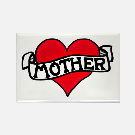 'Mother Tattoo' Rectangle Magnet