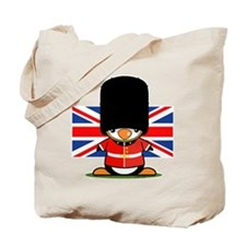 British Soldier Penguin Tote Bag