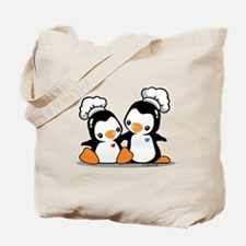 Cooking Penguin Tote Bag