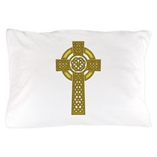 Celtic Knot Cross Gold Pillow Case