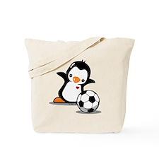 Soccer Penguin Tote Bag