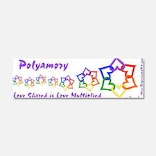 Funny Polyamory Car Magnet 10 x 3
