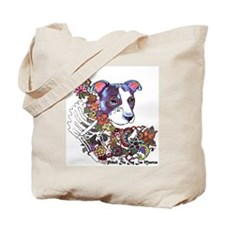 Pitbull Celebrate Day of the Dead Tote Bag