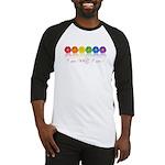 gay pride barcode Baseball Jersey