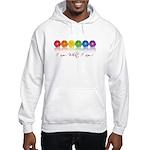 gay pride barcode Hooded Sweatshirt
