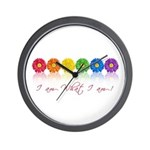 gay pride barcode Wall Clock