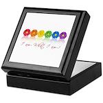 gay pride barcode Keepsake Box