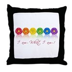 gay pride barcode Throw Pillow