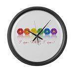 gay pride barcode Large Wall Clock