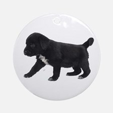 Labrador Retriever Puppy Ornament (Round)