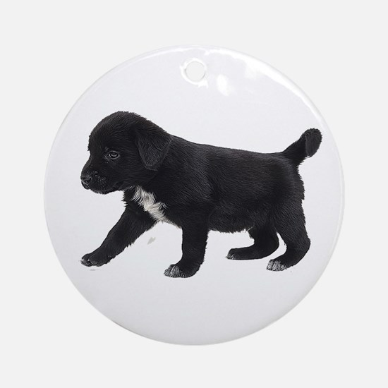 Labrador Retriever Puppy Ornament (Round)