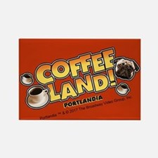 Portlandia Coffee Land Rectangle Magnet