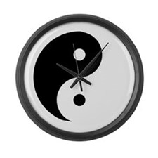 Yin Yang Large Wall Clock