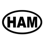 Ham Amateur Radio Oval Sticker