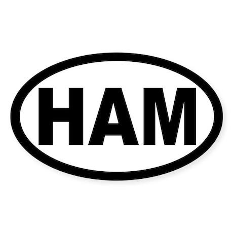 Ham Amateur Radio Oval Sticker