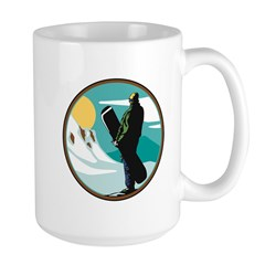 Snow Boarder Circle Design Mug