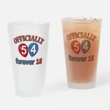 officially 54 forever 18 Drinking Glass