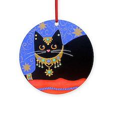 Black Moroccan CAT Porcelain Ornament