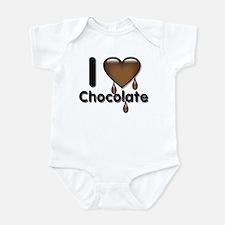I Love Heart Chocolate Lover Infant Bodysuit