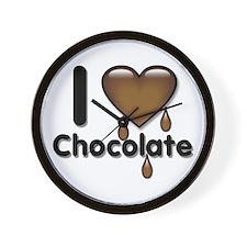 I Love Heart Chocolate Lover Wall Clock