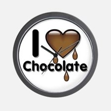 I Love Heart Chocolate Lover Wall Clock