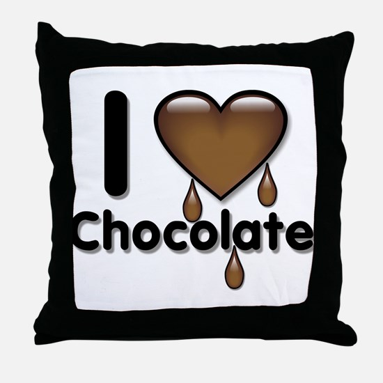 I Love Heart Chocolate Lover Throw Pillow