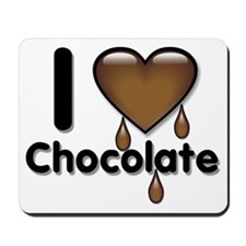 I Love Heart Chocolate Lover Mousepad